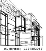 architectural drawing  modern... | Shutterstock .eps vector #1334853056