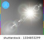 vector transparent sunlight... | Shutterstock .eps vector #1334853299