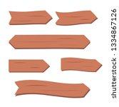 wooden planks set. cartoon wood ...