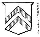 shield showing chevronels have... | Shutterstock .eps vector #1334868323
