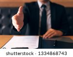 manager showing hand with... | Shutterstock . vector #1334868743