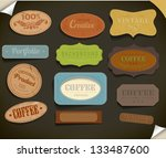 set of retro vintage labels.... | Shutterstock .eps vector #133487600