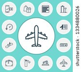 airport icons set with... | Shutterstock .eps vector #1334880026