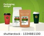 coffee packaging template... | Shutterstock .eps vector #1334881100