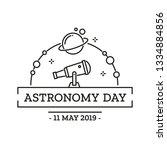 asrtonomy day greeting card... | Shutterstock .eps vector #1334884856