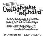 the retro typeface calligraphy... | Shutterstock .eps vector #1334896640