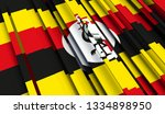 abstract flag of uganda. 3d... | Shutterstock . vector #1334898950