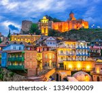 view of the old town of tbilisi ... | Shutterstock . vector #1334900009
