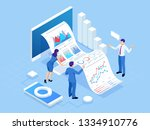 isometric concept of business... | Shutterstock .eps vector #1334910776