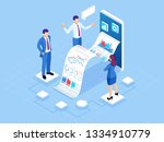 isometric concept of business...   Shutterstock .eps vector #1334910779