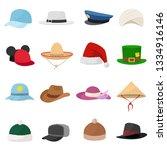 hat set. various hats... | Shutterstock .eps vector #1334916146