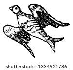 bird volant is used in heraldry ...   Shutterstock .eps vector #1334921786