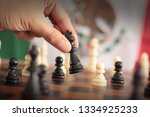 chess with mexican flag... | Shutterstock . vector #1334925233