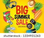 big summer sale poster up to 50 ... | Shutterstock .eps vector #1334931263