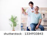 old man visiting young male...   Shutterstock . vector #1334933843