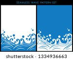 set of two japanese traditional ... | Shutterstock .eps vector #1334936663