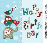 Template Greeting Card  Vector...
