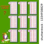 division tables for little... | Shutterstock .eps vector #1334938829