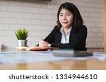 portrait of young beautiful... | Shutterstock . vector #1334944610