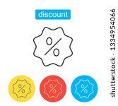 discount icon. shopping sale ... | Shutterstock .eps vector #1334954066