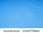 water drops on blue background | Shutterstock . vector #1334970860