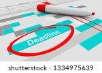 deadline due date tracking... | Shutterstock . vector #1334975639