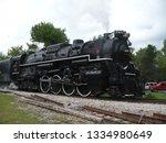 1940s era large freight steam... | Shutterstock . vector #1334980649