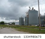 1940s era large freight steam... | Shutterstock . vector #1334980673