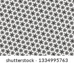 ornament with elements of black ... | Shutterstock . vector #1334995763