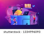 businessman working and... | Shutterstock .eps vector #1334996093