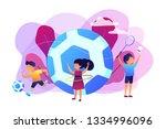 tiny people  active kids in...   Shutterstock .eps vector #1334996096