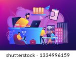 businessmen use workspace with... | Shutterstock .eps vector #1334996159