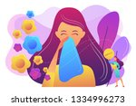 female allergic to spring... | Shutterstock .eps vector #1334996273