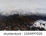 The Edge Of A Partially Frozen...