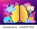 patient with thought bubble and ... | Shutterstock .eps vector #1334997353
