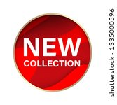 new collection label and red... | Shutterstock .eps vector #1335000596