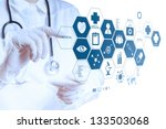 medicine doctor hand working... | Shutterstock . vector #133503068