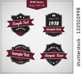 set of vintage vector labels  ... | Shutterstock .eps vector #133503998