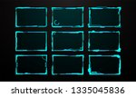 abstract sci fi frame template... | Shutterstock .eps vector #1335045836