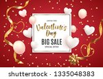 valentine's day love and... | Shutterstock . vector #1335048383