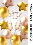 color glossy happy birthday... | Shutterstock . vector #1335049019