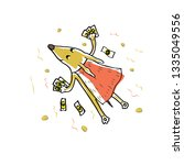 the dog is a superhero with... | Shutterstock .eps vector #1335049556