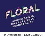 vector of stylized modern font... | Shutterstock .eps vector #1335063890