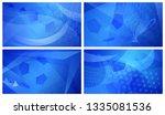 set of four football or soccer...   Shutterstock .eps vector #1335081536