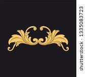 gold rococo ornament. retro... | Shutterstock .eps vector #1335083723