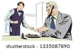 stock illustration. angry... | Shutterstock .eps vector #1335087890
