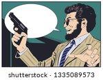 stock illustration. criminal... | Shutterstock .eps vector #1335089573