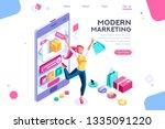 concept  buyer graphic ... | Shutterstock .eps vector #1335091220