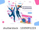 business tasks schedule week.... | Shutterstock .eps vector #1335091223
