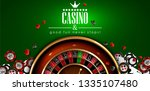 casino advertising design with... | Shutterstock .eps vector #1335107480